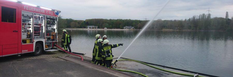 Übung am Fühlinger See